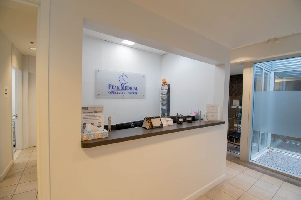 Peak Medical Group Lincoln Park SW Calgary Reception Office