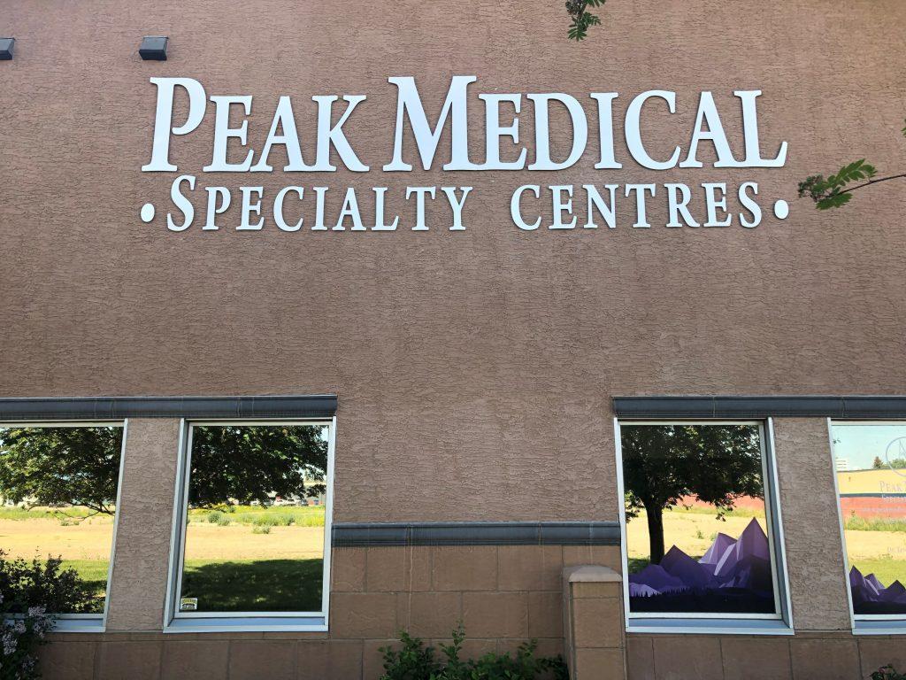 peak medical group red deer front view