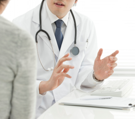 Sexual Health doctor takling to a patient